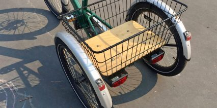 Evelo Compass Steel Mesh Basket With Bamboo Deck
