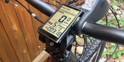 Optibike R15c Carbon Fiber Large Backlit Display Panel