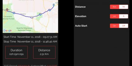 Boomerang Cyclotrac Gps Bike Security Mobile App 2 Trip Details Settings