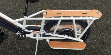 2019 Rad Power Bikes Radwagon Rear Cargo Rack With Wooden Deck Pannels