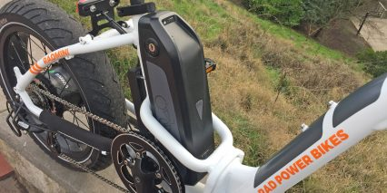 Rad Power Bikes Radmini Step Thru Mid Frame Battery Reinforced Folding Hinge