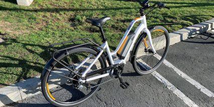 Raleigh Detour Ie White With Orange Accents Step Through Grame
