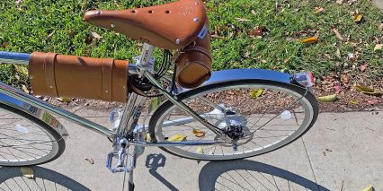 California Bicycle Factory Retro S Leather Saddle