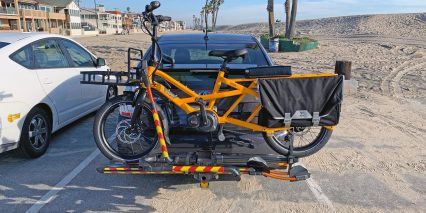 Tern Gsd S00 Loaded On Car Mounted Bike Rack