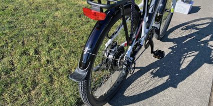 Voltbike Bravo Integrated Rear Light Fenders With Mud Flaps