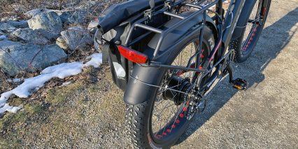 2019 Voltbike Yukon 750 Optional Rear Rack Integrated Rear Light