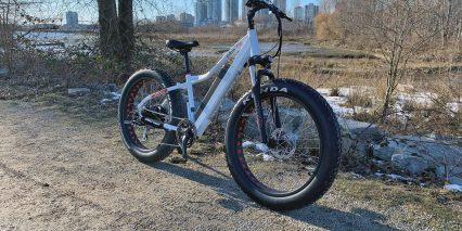 2019 Voltbike Yukon 750 White Angle View With Front Fork