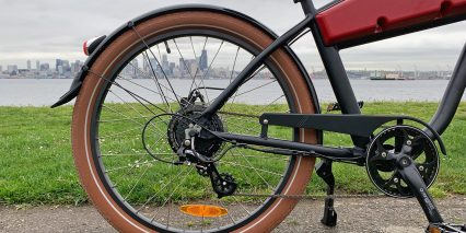 2019 Ariel Rider N Class Back View Plastic Chain Guide Brown Tires
