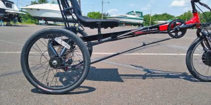 Electric Bike Technologies Electric Eco Delta Trike Recumbant Seat Rear Solid Axle