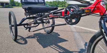 Electric Bike Technologies Electric Eco Delta Trike Recumbant Seating Chain Tube