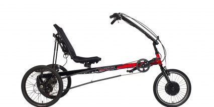 Electric Bike Technologies Electric Eco Delta Trike Stock Black Red