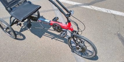 Electric Bike Technologies Electric Eco Delta Trike Sweeping Handlebars Front Brake