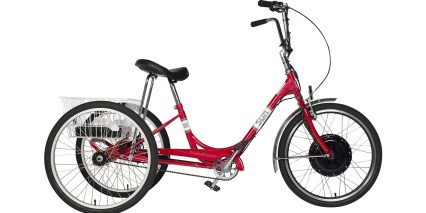 Electric Bike Technologies Electric Sun Traditional Tricycle Stock Step Through Red