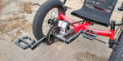 2019 Electric Bike Technologies Electric Fat Tad Trike Boom Crank Arm