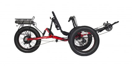 2019 Electric Bike Technologies Electric Fat Tad Trike Stock Trike Red