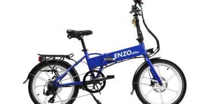 2019 Enzo Ebikes Electric Folding Bike Stock Folding Blue