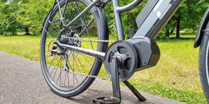 Electric Bike Technologies Electric City Bike Dapu Mid Drive Motor Kickstand