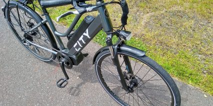 Electric Bike Technologies Electric City Bike Front Suspension Fork Brakes With Motor Inhibitors