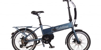 Electric Bike Technologies Electric Folding Bike Stock Folding Blue