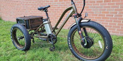 Electric Bike Technologies Fat Tire Trike Front Suspension