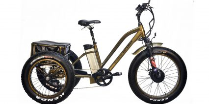 Electric Bike Technologies Fat Tire Trike Stock Trike Bronze