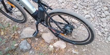 Ancheer Power Plus Electric Mountain Bike Kickstand