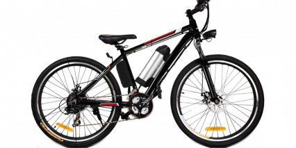 Ancheer Power Plus Electric Mountain Bike Stock High Step Black