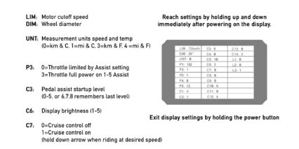 Electric Bike Company Model X Advanced Display Settings Kt Lcd 8h