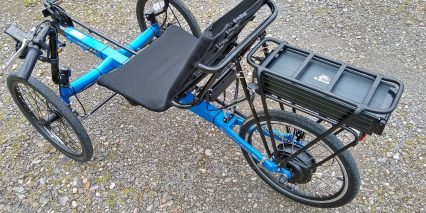 Electric Bike Technologies Eco Tad Trike Battery Rack