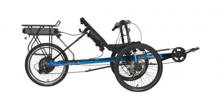 Electric Bike Technologies Eco Tad Trike Stock Trike Blue