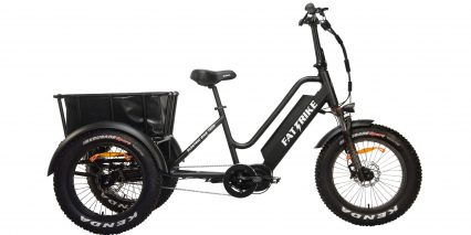 Electric Bike Technologies Fat Mid Drive Trike Stock Trike Black