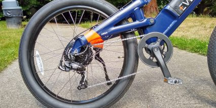 Evelo Aries Hub Drive Shimano Tourney System