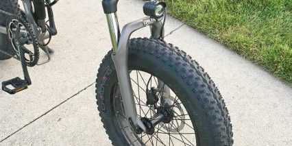 Rattan Fat Bear Chaoyang Big Daddy Tire 120mm Travel Suspension Fork Integrated Headlight