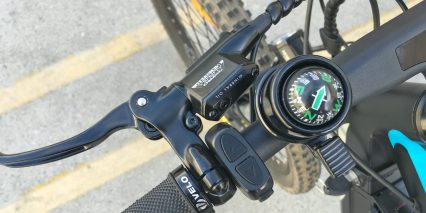 Addmotor Hithot H1 Platinum Control Pad Flick Bell Compass Tektro Three Finger Brake Levers