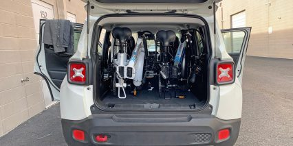 Lectric Ebikes Lectric Xp Two Folded In Trunk Of Car