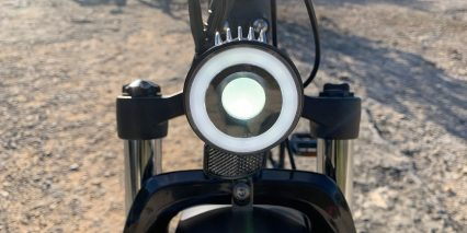 Rad Power Bikes Radrover 5 Headlight With Aluminum Heat Sink Fins Led Ring 80 Lumen Main Beam