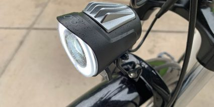 Rad Power Bikes Radcity Step Thru 3 Branded Led Light With Heat Sink Ring And Focused Beam
