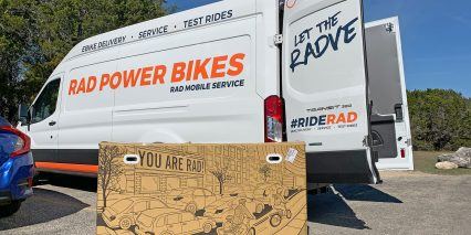Rad Power Bikes Radcity Step Thru 3 Rad Mobile Service Van With Box