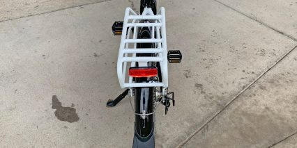 Rad Power Bikes Radcity Step Thru 3 Rear Rack And Fenders Rear Light