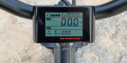Eu Rad Power Bikes Radrhino 5 King Meter Branded Greyscale Lcd Screen With Usb Port Below