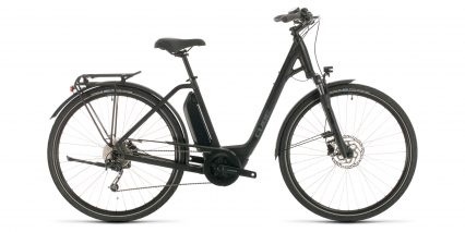 Cube Town Sport Hybrid One 400 Stock Step Thru Black
