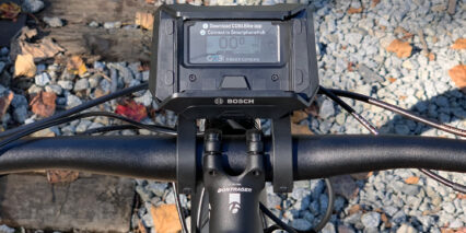 Trek Powerfly Fs 9 Equipped Closeup Bosch Smartphonehub Connect Lcd Phone Mount