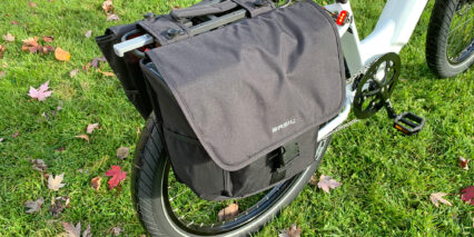 Electric Bike Company Model R Optional Basil Pannier Bags With Mik Interface