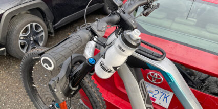 Bulls Adventure Evo Am 27 5 Top Tube Rack With Bottle Cage Mounted