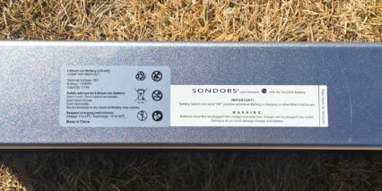 Sondors Lx Battery Pack Specifications Label