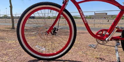 Pedego Comfort Cruiser 180mm Mechanical Disc Brakes Color Matched Rims And Fork