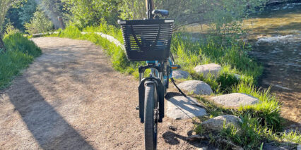 Tern Hsd P9 Front View With Basket And Valo Headlight